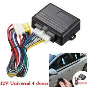 Universal Automatic 4-door Car Window Closer Module 12V Auto Security System Kit