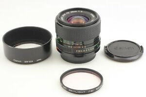 CLA'd 【Near MINT w/ Hood】 Canon New FD NFD 35mm f2 Wide Angle MF Lens from JAPAN