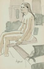 Sydney d'Horne Shepherd (1909-1993) - 20th Century Watercolour, Nude in Interior