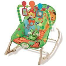 Dondolo Sdraietta per Neonati Vibrante Musicale Fitch Baby Schienale Regolabile