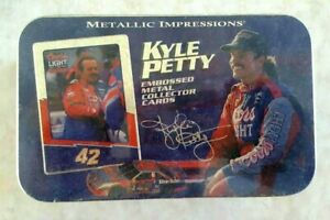 Kyle Petty Metallic Impression Set Factory Sealed Embossed Metal Cards 1995 Coor