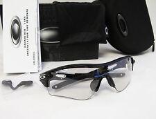 Brand New OAKLEY Radarlock Path Photochromic Polished Black Sunglasses OO9181-36
