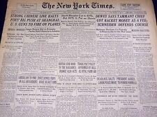 1937 OCTOBER 28 NEW YORK TIMES - CHINESE HALT FOE AT SHANGHAI - NT 3023