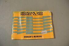 1966 67 OEM HONDA CL160 SCRAMBLER VINTAGE ORIGINAL OWNERS MANUAL BOOK 66 CL 160