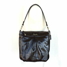 Coach Ashley Brown Patent Leather Hippie Shoulder Bag 20462 Great Cond.