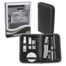 9 Pc Gentlemens Travel Set Manicure Pedicure Man On the Go Portable Toiletry Kit