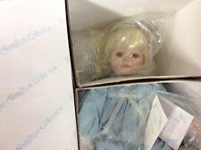 TWICE AS NICE Porcelain Doll HAMILTON COLLECTION Phyllis Parkin MUSICAL RIDE VTG