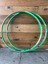 Bundle of Two (2) Velocity Aerohead Rims 700c 24 Hole Machined Sidewall, Green