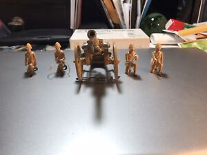 Lead soldiers British Boer War artillery mess high quality hand painted 9 piece