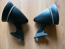 Set of two 70s Talbot style sport mirrors, NOS.