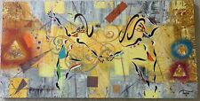 TROPEL French Listed Signed Large Abstract Acrylic And Mixed Media On Canvas