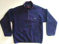 Vintage Patagonia Synchilla snap 1994 Nordic geo shapes Men's L Made in USA Rare
