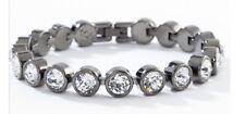 touchstone crystal swarovski ice bracelet Gunmetal Arrives BNIB