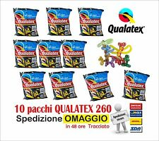 Palloncini modellabili QUALATEX 260 (10 buste da 100pz cad) colori assortiti