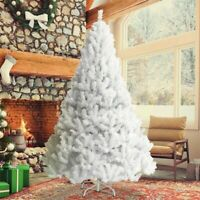 Christmas Tree 6ft Metal Stand Xmas Bushy 1400 Branches White Xmas Home Decor