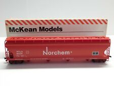 HO Scale - McKean - Norchem 62' Granules Covered Hopper Train Car #6024