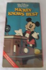 MICKEY KNOWS BEST~VHS~DISNEY HOME VIDEO~VINTAGE CARTOON~1st on video~1+ SHIP