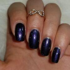 Dark purple with iridescent purple sparkles 5-free no cruelty vegan nail polish