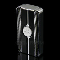 COHIBA Black Classic 3 Torch Jet Flame Cigar Lighter With Punch