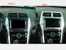 Interior Centre Console Navigation GPS Frame Cover For Ford Explorer 2011-2015
