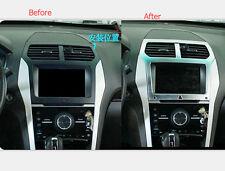 Interior Central Navigation GPS Frame Cover Trim For Ford Explorer 2011-2014