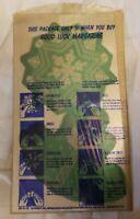 Vintage 3D Shiny Paper Christmas Ornaments Good Luck Margarine 1947 promo prem