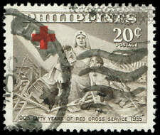 Scott # 628 - 1956 - ' 50 Years of Red Cross Service in The Philippines '