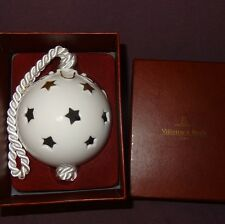 Villeroy and Boch Ball Christmas Tree Ornament Star White Gold Tone Holiday