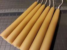 "6 beeswax candles 3/4"" X 6"" Long -Organic"