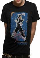 Official David Bowie T-Shirt Serious Moonlight Tour 1983 Ziggy Stardust Mens