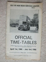 Isle of Man Road Services Ltd - Bus Timetable - 1966