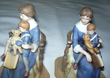 Twin Norman Rockwell Authentic Figurine Americana Bed Time Limited Ed 1981