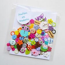 100 Buttons Mixed Assorted Random Top Quality Fresh & New Craft Scrapbooking Sew