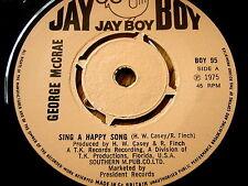 """GEORGE McCRAE - SING A HAPPY SONG  7"""" VINYL"""