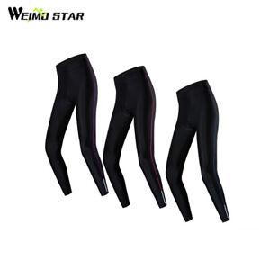 Women Cycling Long Pants Tight Leggings Bicycle Bike 5D Padded Trousers