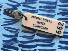 "VTG MOUNT ROYAL HOTEL EDINBURGH KEY GREAT BRITAIN LARGE 4 1/2"" X 1 1/2"""