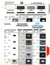 1991 TOYOTA LEXUS CAMRY CELICA SUPRA MR2 PAINT CHIPS (PPG AND DUPONT)