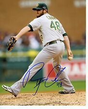 RYAN  COOK    ACTION    OAKLAND  A'S  SIGNED AUTOGRAPHED  8X10  PHOTO