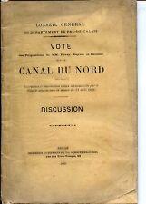 VOTE DES PROPOSTIONS SUR LE CANAL DU NORD - DISCUSSION - 1885 - PAS-DE-CALAIS