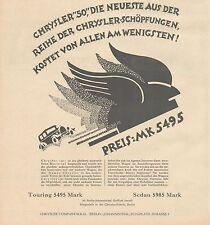 J1132 Automobili CHRYSLER Company - Pubblicità grande formato - 1927 Old advert