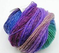 50g Grün Bunt Regenbogen Farbverlauf Bobbel Wolle Garn zum Stricken Häkeln