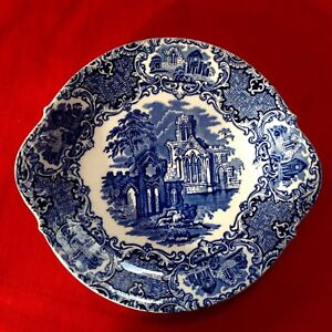 """Antique English Blue & White Plate By George Jones & Sons """"Abbey Pattern"""" C1920"""