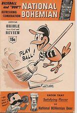 1955 Baltimore Orioles-White Sox Program Sox Blank Birds EX!!