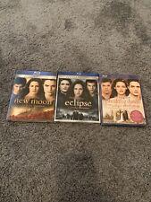 The Twilight Saga Blu-ray Lot - New Moon/Eclipse/Breaking Dawn pt. 1 (Canadian)