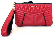 MIU MIU clutch bag pouch leather 5N1811 red party bag