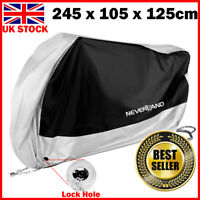 XL Motorcycle Bike Motorbike Cover Waterproof Dust Rain Vented Protector Silver