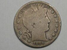 Better-Date 1896 US Barber Half Dollar.  #103