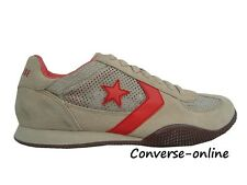 Women's Men's CONVERSE All Star TARGA OX BEIGE/RED Low Trainers Shoes SIZE UK 4