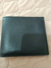 Coach Navy Men's leather Wallet. New
