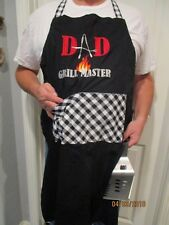 BBQ/BAKER APRON - DAD GRILL MASTER - FATHER'S DAY GIFT